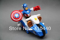 Brand new Super Hero Squad Movie Captain America With Motorcycle Action figure