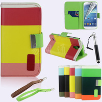 Hight quality factory wholesale  wallet leather case for galaxy s4 i9500