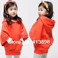 new arrival fashion child jacket batwing sleeve girls clothing child fleece hoodies sweatshirt 2013 autumn and winter  outerwear