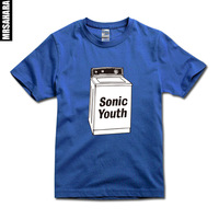 2014 new silm fitting men's&womens Classic punk rock band (sonic youth) print short-sleeve T-shirt loose casual brands tees tops
