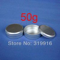 Free shipping 50g  empty aluminum  canning jar / tin /containers  ,aluminum storage container free shipping ,20pc/lot