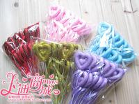 Hot Sell Cartoon Bouquet Decoration DIY Material Double Heart Love Rod Fairy Sticks 12pcs/set