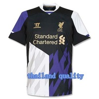 Wholesale ! TOP thailand QUALITY Liverpool 13-14  Away 3rd Jersey soccer shirt can custom  free  shipping S,M,L,XL