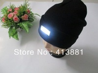 Wholesale fashion led glow knitted caps, 5 led glow knitting hat for free shipping
