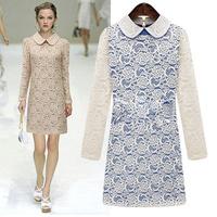 Free Shipping Designer Famous Brand Plus Size Fitted Winter Dresses Fashion Slim Basic Dress 4XL Women DM131864