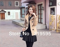 freeshipping new women coat lady coat double-breasted Slim Spring Autumn and winter coat