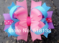 Christmas Girls 4.5'' Hair Bows With Clips,Boutique Hair Flowers for Kids,50pcs/lot Baby Headwear Accessories