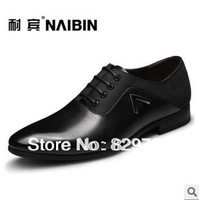 Free shipping 2013 new Breathable business formal leather male genuine leather shoes men's fashion pointed toe
