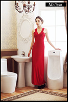 2013 yards behind the new dress sexy v-neck hollow out beautiful buttock nightclub long dress dress