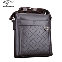 Kangaroo male package male cowhide shoulder bag genuine leather bag messenger bag  lather bag