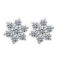 Free Shipping 2013 new Fashion Hot Simple Square Earring Imitation Diamond Earring Stylish Jewelry