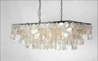Pendant Light Shell LED Hanging Lamp European modern dining room creative shell wind chimes Bedroom Bar Lighting