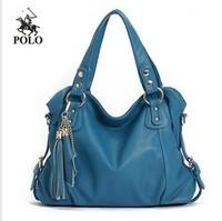 Designer Mode 2014 Genuine Leather Women's fashion handbag Tassel vintage cowhide shoulder bag messenger bag bolsas freeshiping