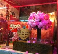 Christmas gift magic sakura paper magic cherry tree 18cm  =SDSm5