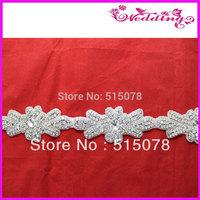 Fancy Embellished Bridal Rhinestone Belt Big Stone For Wedding Dress
