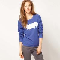 [SEKKES] 2014 NEW Fashion Women Pullovers Printed Batman Sweatshirt Women Hoodies HS11