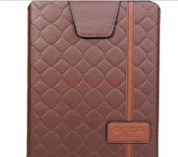 9.7 inch Onda / Onda 8.0 inch tablet portable leather case, high-grade PU + shorthair brown flannel perfect protection