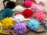 2013 wholesale baby headband lace chiffon  flower headband by angelbaby 24pcs