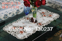 807 / Rectangle 40cm *85cm/ Chinese embroidery hollow round tablecloths / table mat / tea table cloth / Furnishings