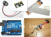 Uno R3 MB-102 830 points Breadboard, 65 Flexible jumper wires , USB Cable and 9V Battery Connector for  kit
