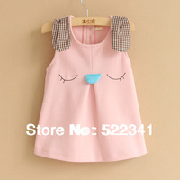 Girls cute cartoon rabbit vest dress dress vest dress spring and autumn children clothing kids sundress