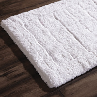 free shipping 100% cotton velvet thickening mats macrotrichia square grid mats doormat bath mat