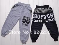 New 2013 autumn -summer child casual pants male boy trousers 58 trousers 3pcs/1lot
