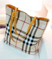 New Year's Discount Grid Universal Women's Both Sides Useful Bag Two in One
