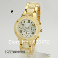 Free shipping (1pcs/lot) Hot Steel Luxury Brand Lady Watch with 8 color Available