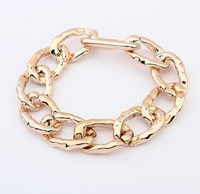 Min.order is $10{ mix order }Europe and the United States major suit is simple thick chain bracelet.free shipping