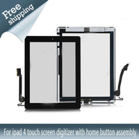 For ipad 4 touch screen digitizer with home button assembly