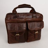 Business Briefcase Bag  Genuine Leather Fashion Men's Handbags  and Messenger Bag
