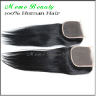 Wholesale Cheap Lace Frontal Closure Brazilian Virgin Hair Silk Straight Bleached Knots Natural Color Human Hair Part Closure(China (Mainland))