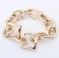 Min.order is $10{ mix order }Europe and the United States major suit is simple thick chain bracelet.(9)free shipping