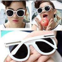 Retro Fashion elegant metal arrow round Sunglasses Women ACCESSORIES 2015 wholesale glasses SG48