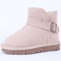 free shipping new 2013 5855 short sand snow boots genuine leather snow boots boots sidepiece belt leather buckle on