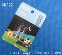 2pcs Lithium batteries CR322 LED fishing night light float babber 3V 22*2.8 mm corefishing