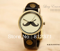 free shipping Brief unisex vintage cowhide watch/genuine leather watchband watch