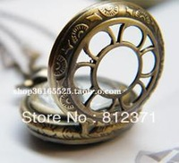 free shipping/women Minisun Small petal necklace table pocket watch/ antique pocket watch