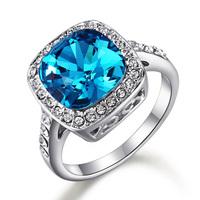 Fashion crystal ring zirconium diamond ring female gift ka242