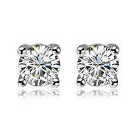 Zirconium diamond fashion lovers cubic zircon stud earring general earring e stud earring kr2