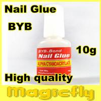 [Retail-006]4 PCS BYB 10g NAILGLUES For Nail Tips False Nail+Free shipping