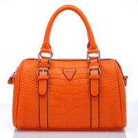 2013 autumn women's handbag crocodile pattern shoulder bag fashion handbag vintage BOSS big bags  free shipping free shipping