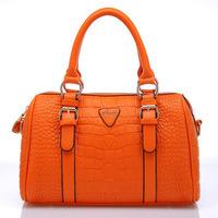 2013 autumn women's handbag crocodile pattern shoulder bag fashion handbag vintage BOSS big bags  free shipping free shipping