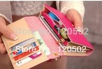 new fashion lady women retro medium purse Hit color clutch wallet high quality bag handbag card holder case