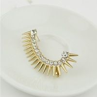 Earings Fashion 2013 Free Shipping, Punk Ear Cuff Earrings Jewelry, Rhinestone Earcuff For Women, EJ066
