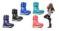 Free Shipping !2013 new 4 color RUBBER DUCK Snow Boots!Warm waterproof women's boots winter boots!Hot sale
