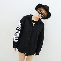 2013 new fashion hot sale Sleeves letter print 100% cotton jacket outerwear women