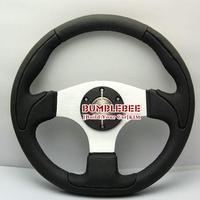 HOT !14 inches Rrech Leather Steering Wheel, racing car steering wheel Aluminum alloy, EK1697