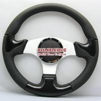 HOT !14 inches Sparco Leather Steering Wheel, racing car steering wheel Aluminum alloy, EK1702